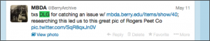MBDA Tweet to DLG.
