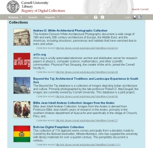 Registry of Digital Collections, Cornell University Library