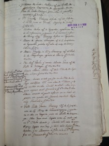 Image 7. Onomastic index, which includes a record of the denunciation made against Roque, mulato esclabo, in AGN, Inquisición 435 (taken by the author in 2015).