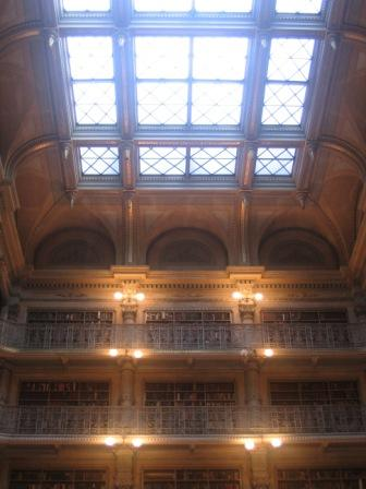 Figure 16. The skylight in the George Peabody Library.