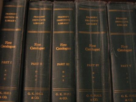 Figure 5. Reprinted volumes of the Catalogue of the Library of the Peabody Institute (1883).