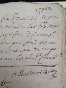 Image 8.  Renumbering of folios in the Inquisition files of the national archive of Mexico, in AGN, Inquisición 435 (taken by the author in 2015).